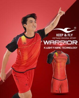 Áo bóng đá không logo Keep Fly WARRIOR màu đỏ