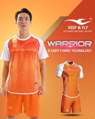 Áo bóng đá không logo Keep Fly WARRIOR màu cam