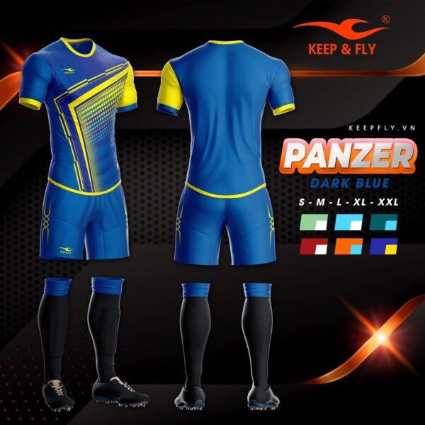 Áo bóng đá không logo thiết kế cao cấp KEEP&FLY - PANZER màu Xanh Bích