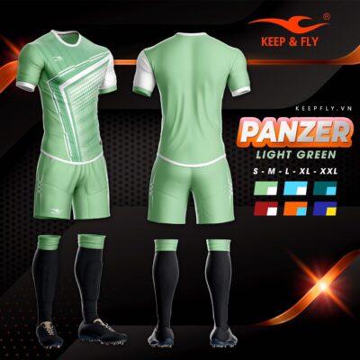 4.Áo bóng đá không logo thiết kế cao cấp KEEP&FLY - PANZER màu Xanh Ngọc