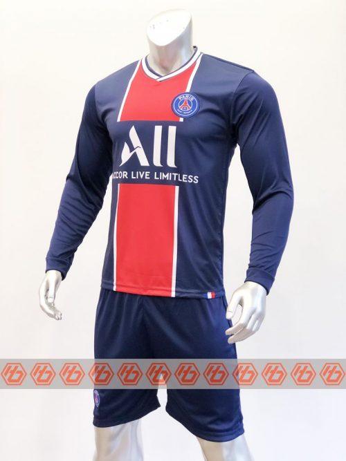 Quần áo bóng đá tay dài PSG màu Xanh Đen mùa giải 20-21