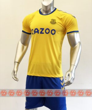 Quần áo bóng đá Everton màu Vàng mùa giải 20-21 mặt nghiêng