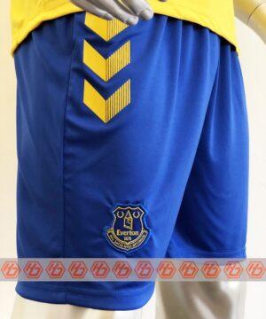 Quần áo bóng đá Everton màu Vàng mùa giải 20-21 mặt quần