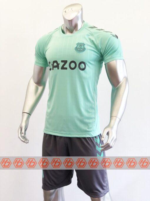 Quần áo bóng đá Everton màu Xanh Ngọc mùa giải 20-21 mặt nghiêng