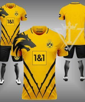 Áo Dortmund chế màu vàng đẹp và độc mới 21-22