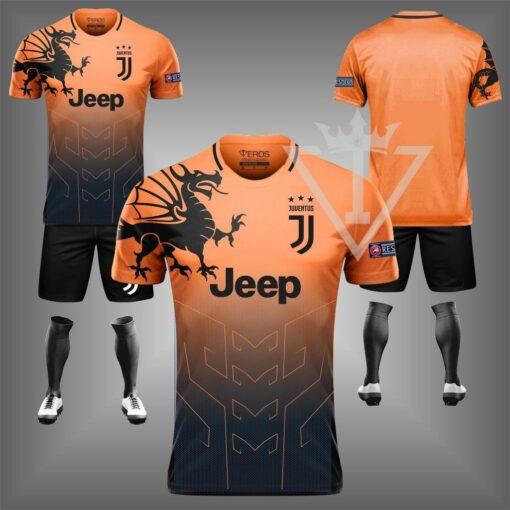 Áo Juventus chế màu cam đẹp và độc mới 21-22