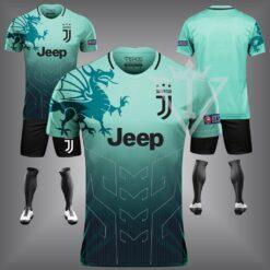 Áo Juventus chế màu xanh da đẹp và độc mới 21-22