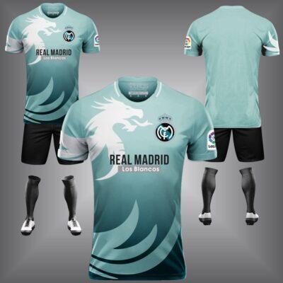 Áo Real Madrid chế màu xanh da đẹp và độc mới 21-22