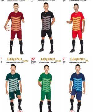 Áo bóng đá không logo thiết kế LEGEND vải mè cao cấp 6 màu