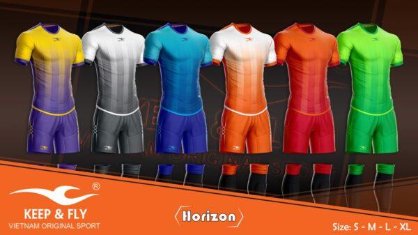Áo bóng đá không logo thiết kế Keep & Fly HORIZON thun lạnh cao cấp 6 màu