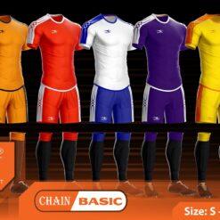 Áo bóng đá không logo thiết kế Keep & Fly CHAIN BASIC thun lạnh cao cấp 7 màu