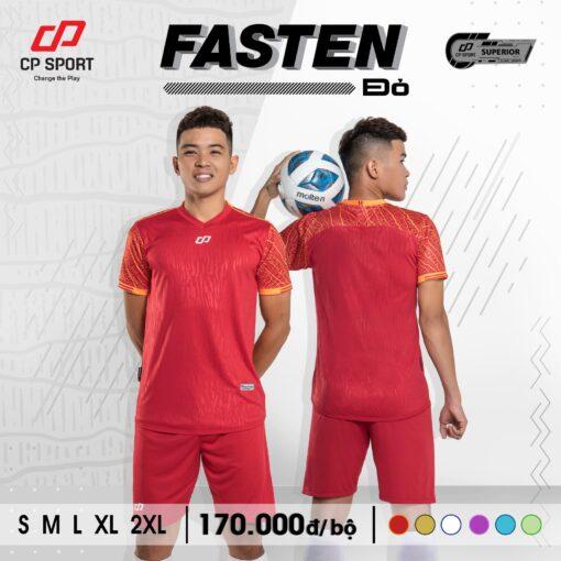 Áo bóng đá không logo CP FASTEN màu ĐỎ