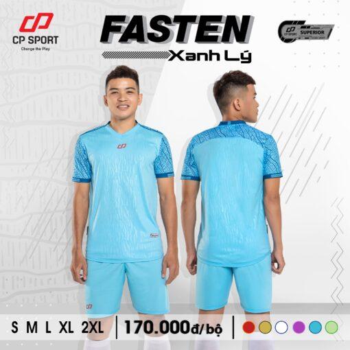Áo bóng đá không logo CP FASTEN màu xanh biển