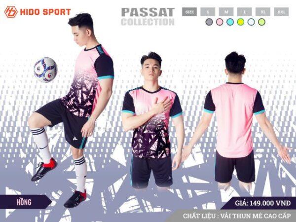 Áo bóng đá không logo Just Play PASSAT màu Hồng