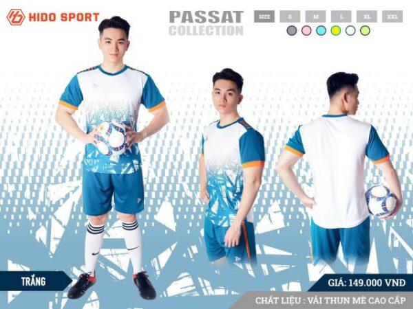 Áo bóng đá không logo Just Play PASSAT màu Trắng