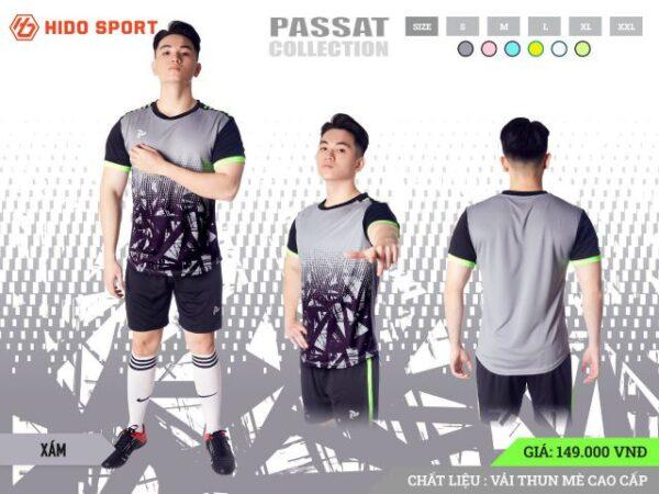 Áo bóng đá không logo Just Play PASSAT màu Xám