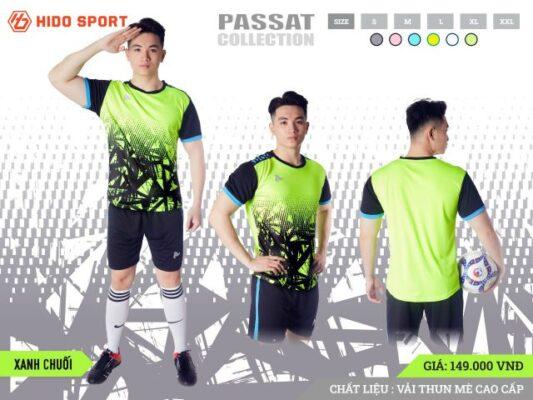 Áo bóng đá không logo Just Play PASSAT màu Xanh Chuối