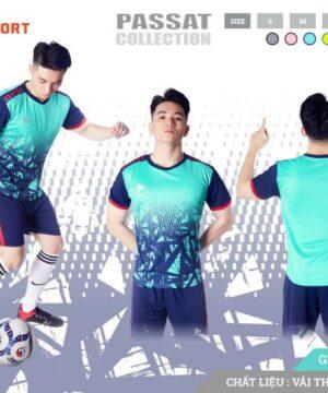 Áo bóng đá không logo Just Play PASSAT màu Xanh Lý