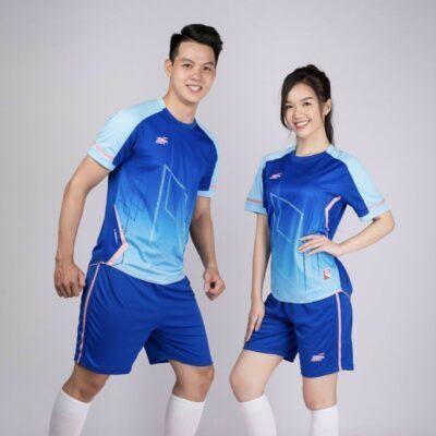 Áo bóng đá không logo Riki GEM màu Xanh bích