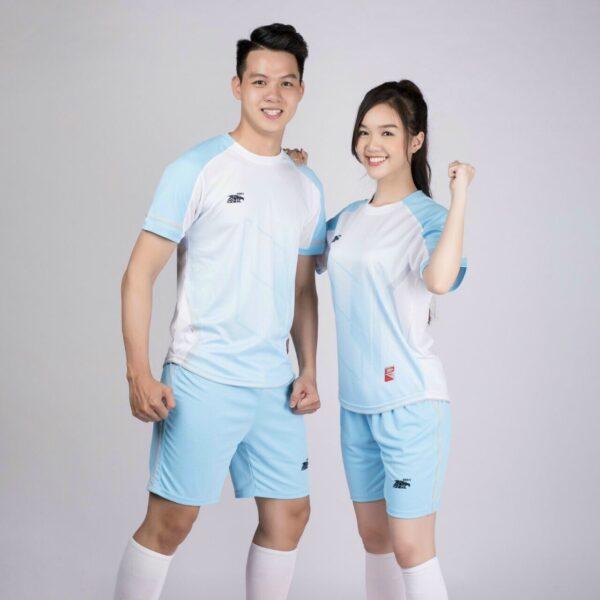 Áo bóng đá không logo Riki GEM màu xanh da