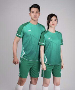 Áo bóng đá không logo Riki GEM màu xanh rêu
