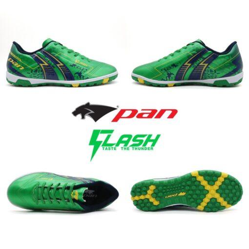 Giày Pan FLASH đế đinh TF xanh lá