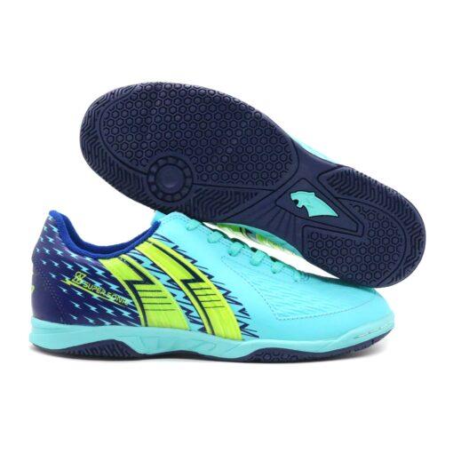 Giày đá banh Pan Super Sonic S đế bằng chính hãng màu xanh biển