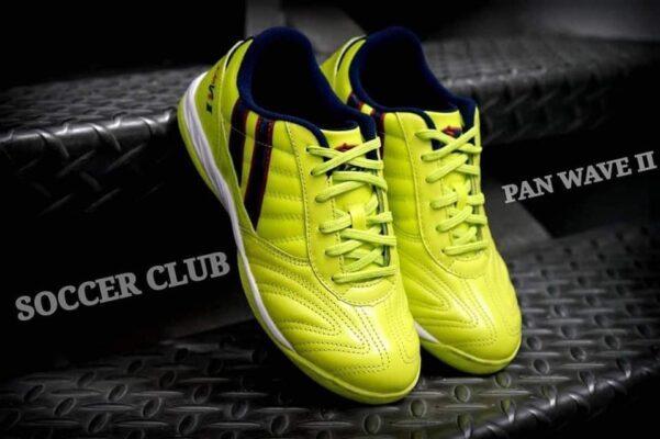 Giày đá banh Pan Wave Legend II IC màu xanh dạ quang