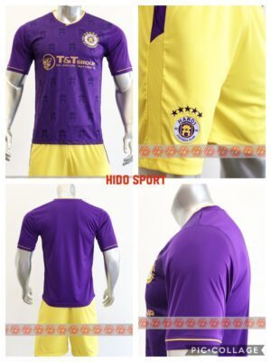 Top 10 mẫu áo bóng đá đẹp nhất 2021 Hà Nội Tím