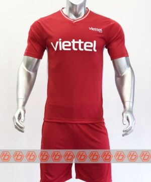 Quần áo đá banh CLB VIETTEL màu Đỏ mùa giải 21-22