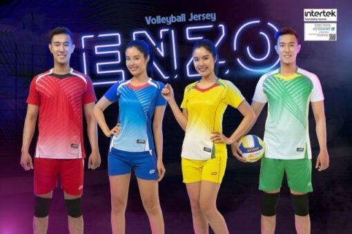 Áo bóng chuyền không logo CP ENZO thun lạnh cao cấp