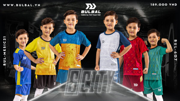 Áo bóng đá trẻ em không logo Bul Bal - 6CITY baner