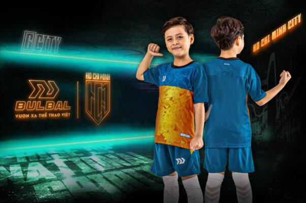 Áo bóng đá trẻ em không logo Bul Bal - 6CITY màu Cam