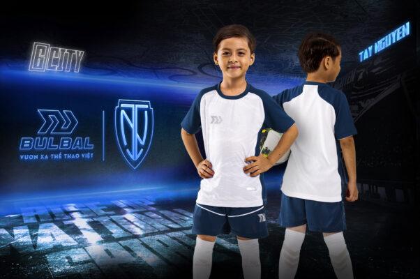 Áo bóng đá trẻ em không logo Bul Bal - 6CITY trắng