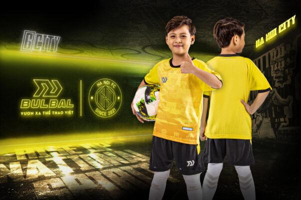Áo bóng đá trẻ em không logo Bul Bal - 6CITY vàng