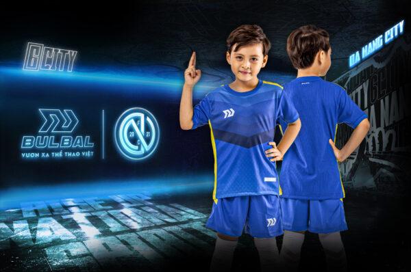 Áo bóng đá trẻ em không logo Bul Bal - 6CITY Xanh bích