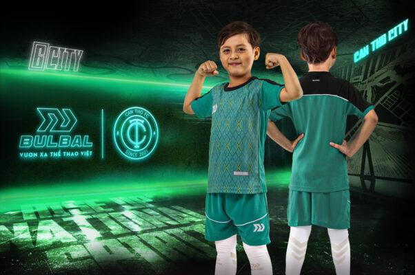 Áo bóng đá trẻ em không logo Bul Bal - 6CITY Xanh ngọc