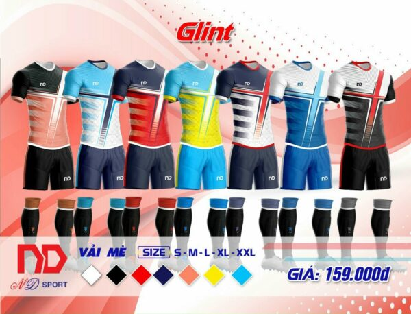 Áo bóng đá không logo ND - GLINT vải mè cao cấp 7 màu