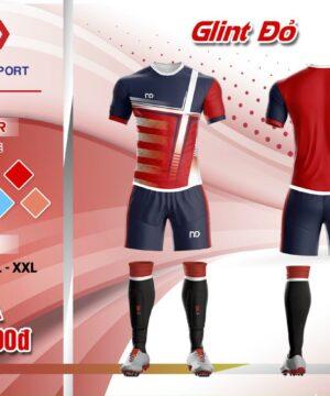 Áo bóng đá không logo thiết kế cao cấp ND - GLINT màu ĐỎ