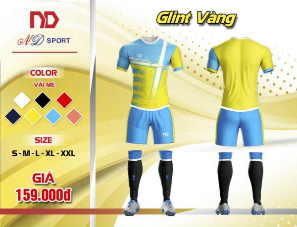 Áo bóng đá không logo thiết kế cao cấp ND - GLINT màu vàng