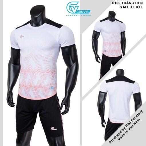 Áo bóng đá không logo Riki CONVIS-C100 màu trắng