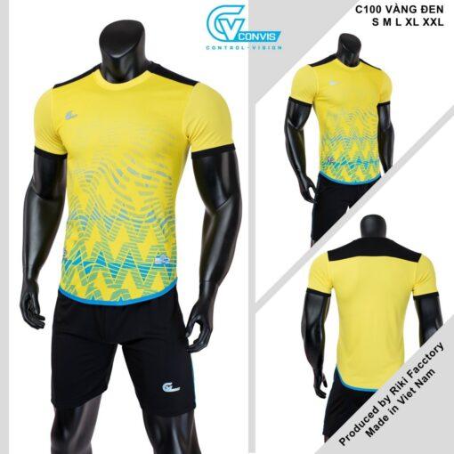Áo bóng đá không logo Riki CONVIS-C100 màu vàng