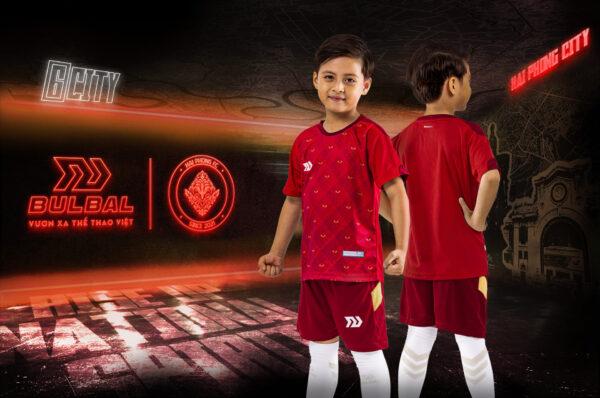 Áo bóng đá trẻ em không logo Bul Bal - 6CITY màu Đỏ