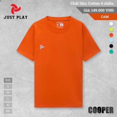 Áo thun cotton Cooper 4 chiều màu Cam