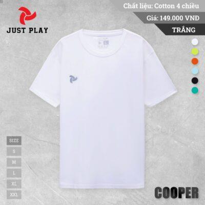 Áo thun cotton Cooper 4 chiều màu Trắng