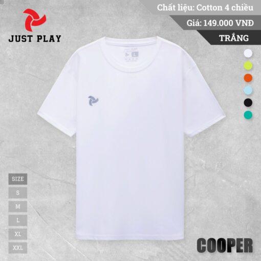 Áo thun cotton 4 chiều Cooper màu Trắng