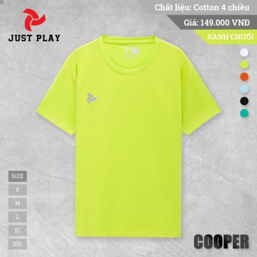 Áo thun cotton 4 chiều Cooper màu Xanh dạ quang