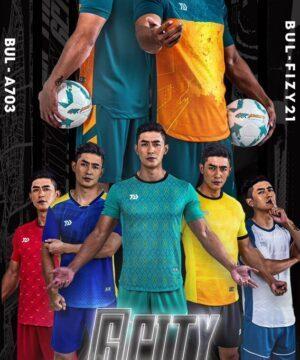 Áo bóng đá không logo Bul Bal - 6CITY vải mè cao cấp 6 màu