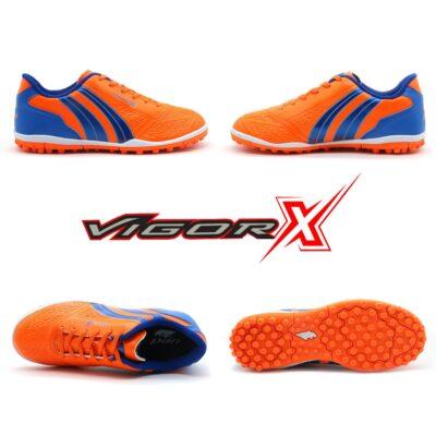 Giày trẻ em Pan Vigor X đế đinh TF màu cam