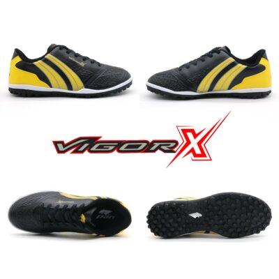 Giày trẻ em Pan Vigor X đế đinh TF màu đen